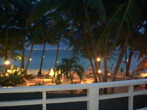The view out of my balcony at Le Soleil de Boracay.